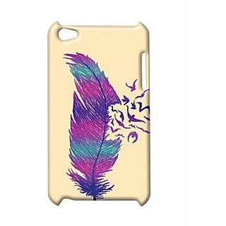 Pickpattern Back Cover For Apple Ipod Touch 4 SINGLEFEATHERIT4-5357