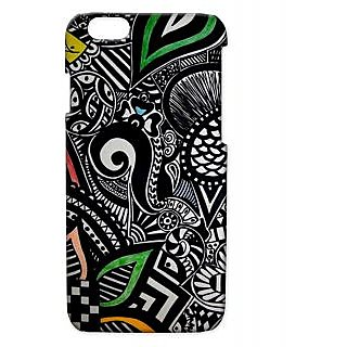 Pickpattern Back Cover For Apple Iphone 6 BLACKMOTIFSI6-2821