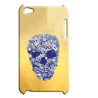 Pickpattern Back Cover For Apple Ipod Touch 4 FLOWERYSKULLIT4-4402
