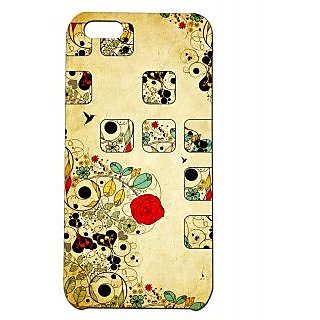 Pickpattern Back Cover For Apple Iphone 5C VINTAGEFLOWERI5C-2340