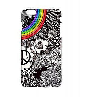 Pickpattern Back Cover For Apple Iphone 6 Plus BLACKRAINBOWI6PLUS-3577