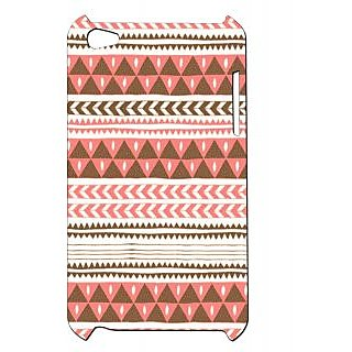 Pickpattern Back Cover For Apple Ipod Touch 4 BLACKYORANGEIT4-4759