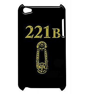 Pickpattern Back Cover For Apple Ipod Touch 4 SHERLOCK221BDOORBLACKIT4-5337
