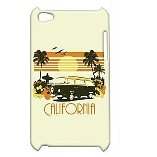Pickpattern Back Cover For Apple Ipod Touch 4 CALIFORNIAIT4-4511