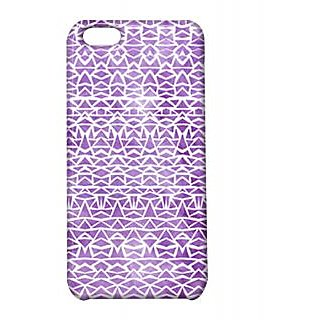 Pickpattern Back Cover For Apple Iphone 5C SHINNYVIOLETI5C-2248