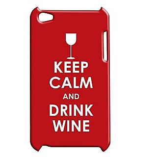 Pickpattern Back Cover For Apple Ipod Touch 4 DRINKWINEIT4-4910