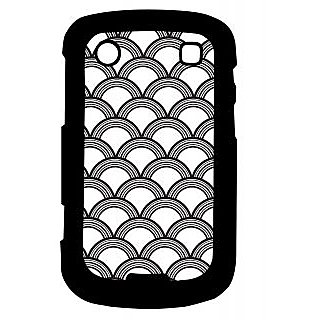 Pickpattern Back Cover For Blackberry Bold 9900 HALFROUND9900-5945