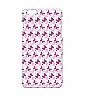 Pickpattern Back Cover For Apple Iphone 6 Plus PURPLEBUTTERFLYI6PLUS-4198