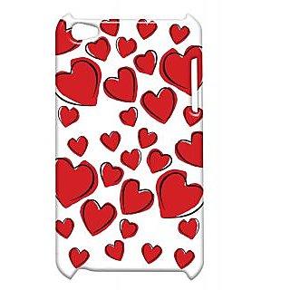 Pickpattern Back Cover For Apple Ipod Touch 4 MULTIPLEHEARTSREDIT4-5171