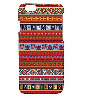 Pickpattern Back Cover For Apple Iphone 6 REDETHNICI6-3339