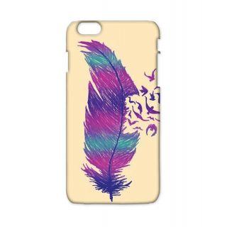 Pickpattern Back Cover For Apple Iphone 6 Plus SINGLEFEATHERI6PLUS-3857