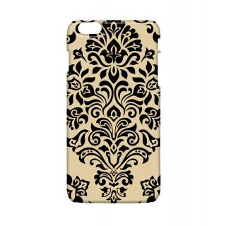 Pickpattern Back Cover For Apple Iphone 6 Plus BLACK ON BEIGEI6PLUS-4076