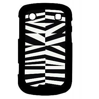 Pickpattern Back Cover For Blackberry Bold 9900 BLACK&WHITEVECTOR9900-5935