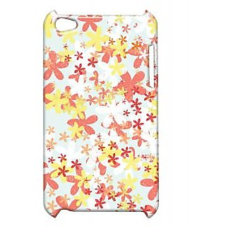Pickpattern Back Cover For Apple Ipod Touch 4 FLOWERPUNCHIT4-4612