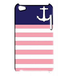 Pickpattern Back Cover For Apple Ipod Touch 4 NAVYANCHORAMERICAIT4-5195