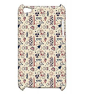 Pickpattern Back Cover For Apple Ipod Touch 4 UMBRELLAIT4-4663