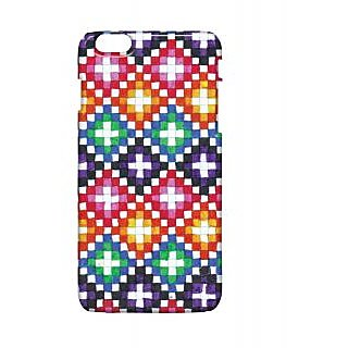 Pickpattern Back Cover For Apple Iphone 6 Plus COLOURFULSQUAREI6PLUS-4081