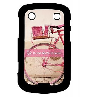 Pickpattern Back Cover For Blackberry Bold 9900 LIFEISTOOSHORT9900-5920
