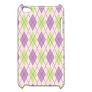 Pickpattern Back Cover For Apple Ipod Touch 4 PURPLEPATTERNIT4-4626