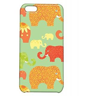 Pickpattern Back Cover For Apple Iphone 5C ELEPHANTARTI5C-2475