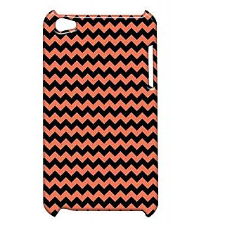 Pickpattern Back Cover For Apple Ipod Touch 4 ORANGEBLACKIT4-5210