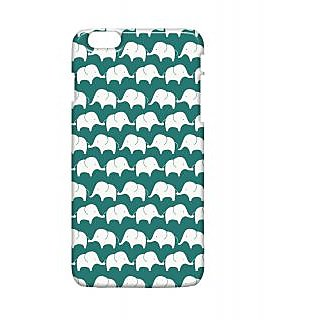 Pickpattern Back Cover For Apple Iphone 6 Plus ELEPHANTSBLUEI6PLUS-3991