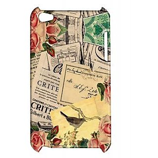 Pickpattern Back Cover For Apple Ipod Touch 4 VINTAGENEWYEARCARDIT4-5441