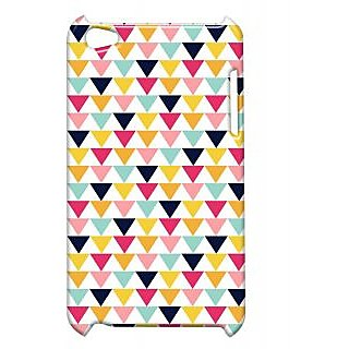 Pickpattern Back Cover For Apple Ipod Touch 4 DOWNWARDTRIANGLEIT4-4906