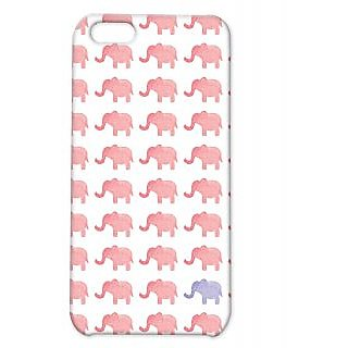 Pickpattern Back Cover For Apple Iphone 5C ELEPHANTTRUNKI5C-2649