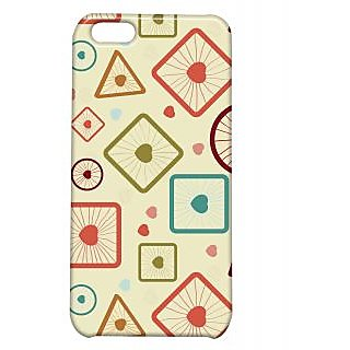 Pickpattern Back Cover For Apple Iphone 5C ROUND&SQUAREI5C-2588
