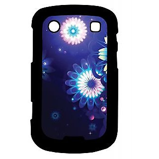 Pickpattern Back Cover For Blackberry Bold 9900 SHINNYDARKBLUE9900-6005