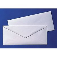 White Official Envelopes Pack Of 25 Envelopes
