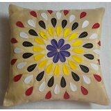 JBG Home Store  Beautiful Anarkali Design Cushion Cover(Set Of 5) -Cream