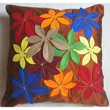 JBG Home Store Patchwork Design Cushion Cover(Set Of 5) -Rust
