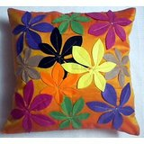 JBG Home Store Patchwork Design Cushion Cover(Set Of 5) -Orange