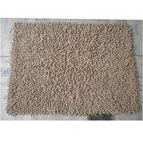 JBG Home Store Chenille Shaggy Cotton Bathmat/Rugs -Beige