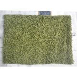 JBG Home Store Chenille Shaggy Cotton Bathmat/Rugs -Green