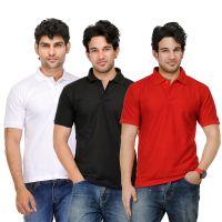 TSX Mens Red V-Neck Tshirt (Pack of 3)
