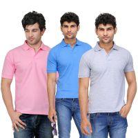 TSX Multicolor T-Shirt For Men (Pack Of 3)