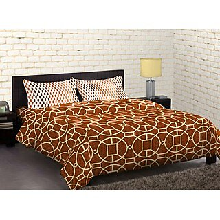 Multi Colour Cadence Bedsheet With 2 Pillow Cover (Bedsheet Set (King))