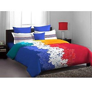 Blue Red Exclusive Designer Bedlinen (Bedsheet Set (Double))
