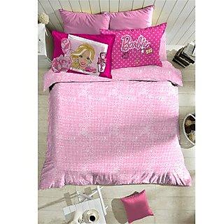 Pink Barbie Bedlinen (Bedsheet Set (Single))