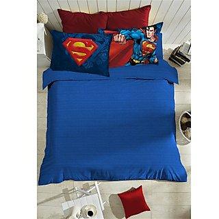 Blue Superman Bedlinen (Bedsheet Set (King))