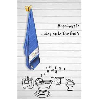 Blue Happiness is Single Towel (Bath Towel)