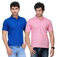 TSX Blue  Pink T-Shirt For Men (Pack Of 2)