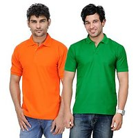 TSX Exquisite Cotton Blend Multi Color Polo T-Shirt Pack Of 2 (43)