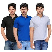 TSX Exquisite Cotton Blend Multi Color Polo T-Shirt Pack Of 3 (97)