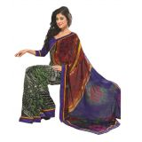 Bollywood Designer Weightless Georgette Saree With Elegant Border & Blouse Piece 4004B