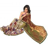 Bollywood Designer Weightless Georgette Saree With Elegant Border & Blouse Piece 4011B