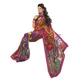 Bollywood Designer Weightless Georgette Saree With Elegant Border & Blouse Piece 4020B